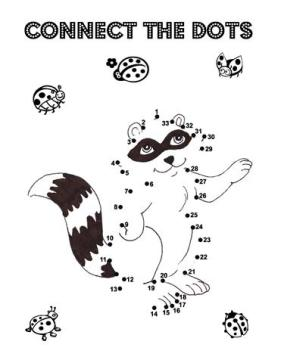 connect the dots raccoon