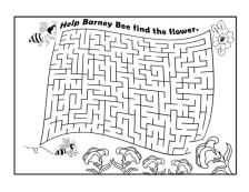 maze bee flower
