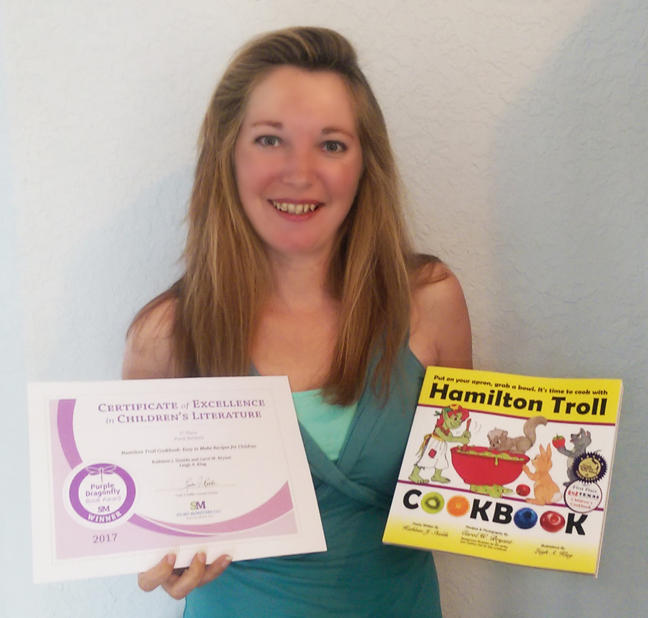 Kathleen J. Shields award winning author of the Hamilton Troll Cookbook
